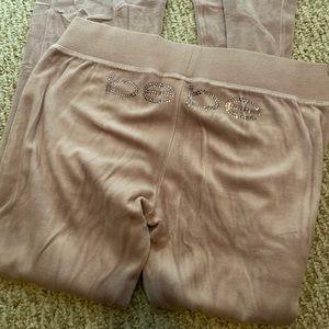 BEBE sparkly velour pants